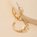 Fashion new 1 pair of metal Cshaped hotselling alloy earrings  NHGU260962