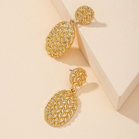 Fashion new metal geometric alloy earrings for women hot-selling NHGU260967's discount tags