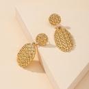 Fashion new metal geometric alloy earrings for women hotselling NHGU260967