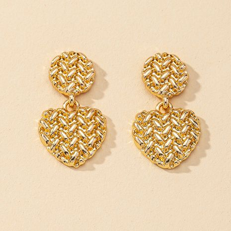 Fashion new 1 pair of metal alloy earrings hot-selling wholesale NHGU260971's discount tags