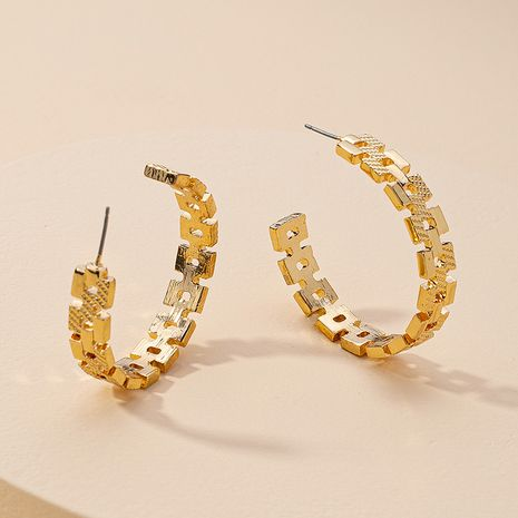 new metal C-shaped alloy earrings for women hot-selling wholesale NHGU260972's discount tags