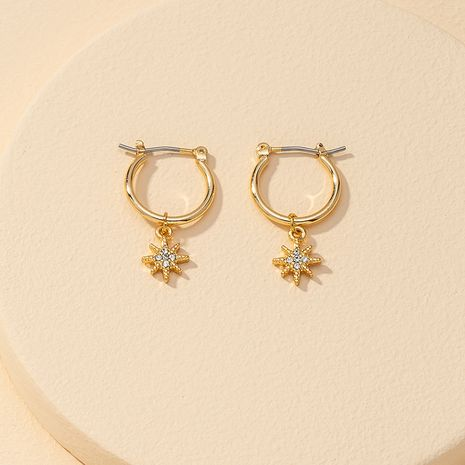 Fashion new 1 pair of eight-pointed star earrings hot-selling  NHGU260978's discount tags