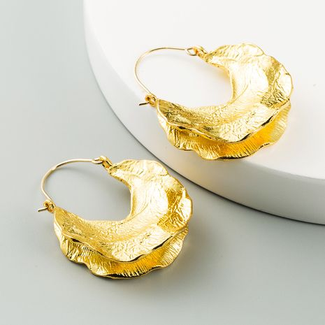 fashion exaggerated geometric U-shaped alloy gold silver long trend alloy earrings for women NHLN260986's discount tags
