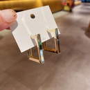 Hot selling fashion simple temperament metal S925 silver needle earrings  NHCG261001