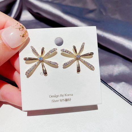 S925 Silbernadel Ohrringe Zirkon Mikro-eingelegte Feuerwerk Ohrringe NHCG261012's discount tags