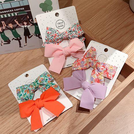 Ensemble de pinces à bec de canard pour enfants avec nœud floral coréen NHDQ261020's discount tags