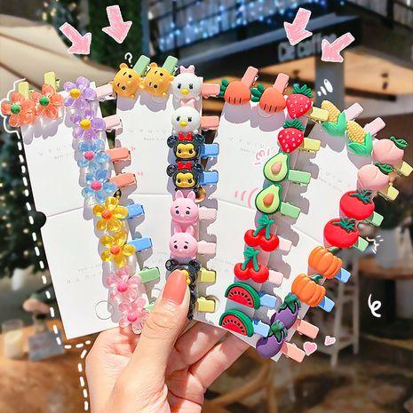 Clip de côté de bec de canard de bande dessinée pour enfants frange clip sauvage dix pièces NHNA261030's discount tags