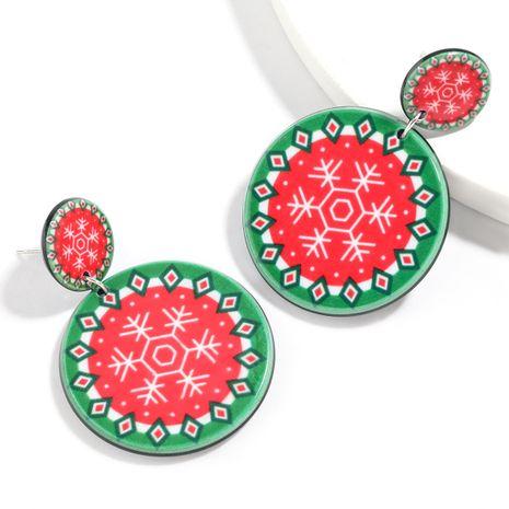 Christmas series round resin snowflake geometric pattern women's earrings NHJE261040's discount tags