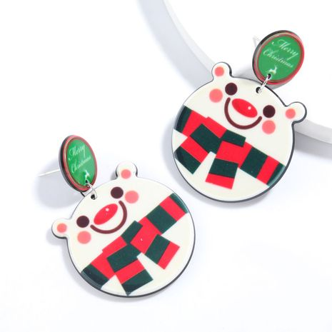 Christmas series round resin white bear  earrings  NHJE261041's discount tags