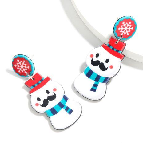 Boucles d'oreilles filles bonhomme de neige en résine série Noël en gros NHJE261047's discount tags