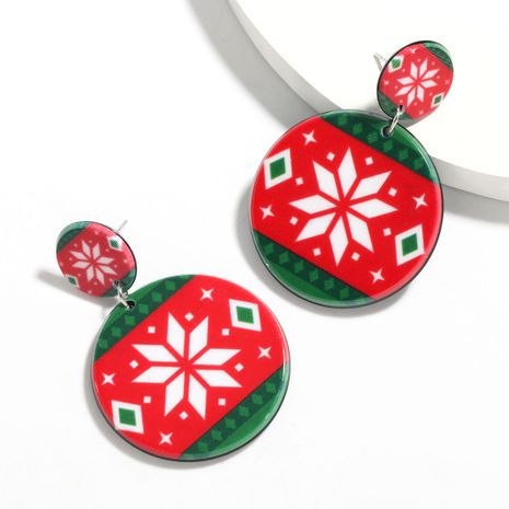 Christmas series round  geometric pattern  earrings  NHJE261052's discount tags