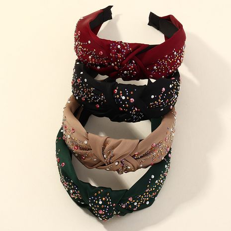 Korean  new wide-brimmed solid color fabric headband  NHAU261081's discount tags