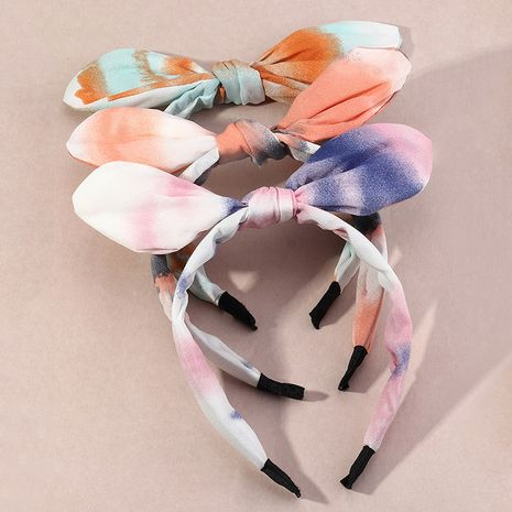 Korean  fashion trendy  bow wide-brimmed headband NHAU261083's discount tags
