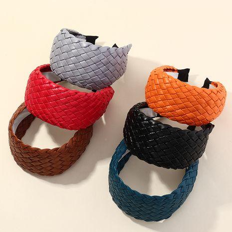 new simple PU woven  fashion  headband  NHAU261086's discount tags