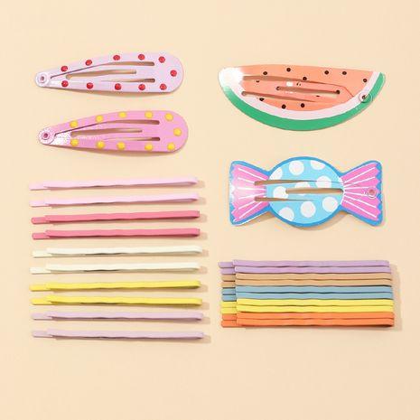 Korean new fashion geometric watermelon hair clip side clip  NHAU261088's discount tags