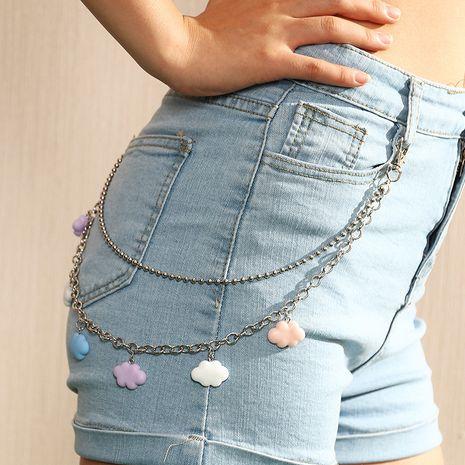 simple  cloud  punk hip hop rock  waist chain NHAU261089's discount tags