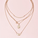 Hot selling fashion fivepointed star avatar multilayer womens necklace  NHAJ261096