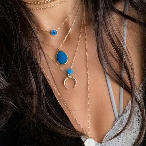 Hot selling fashion personality pendant multi-layer women's necklace  NHAJ261102's discount tags