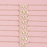 Collar de letra simple con personalidad para mujer NHAJ261104