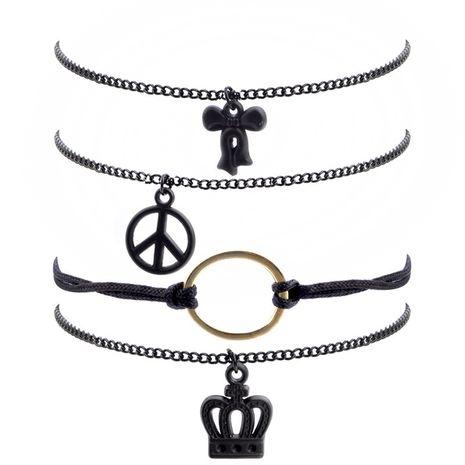 Vente chaude mode couronne sauvage noeud papillon bracelet en gros NHLL261109's discount tags