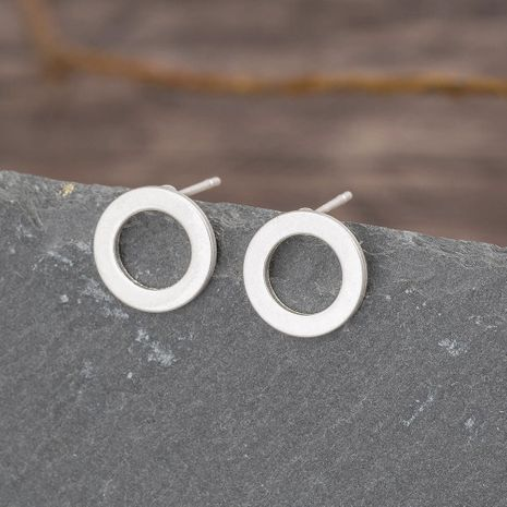 Korean simple sand white circle alloy new stud earrings NHAN261126's discount tags