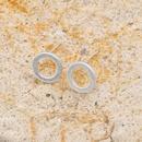 Korean simple sand white circle alloy new stud earrings NHAN261126