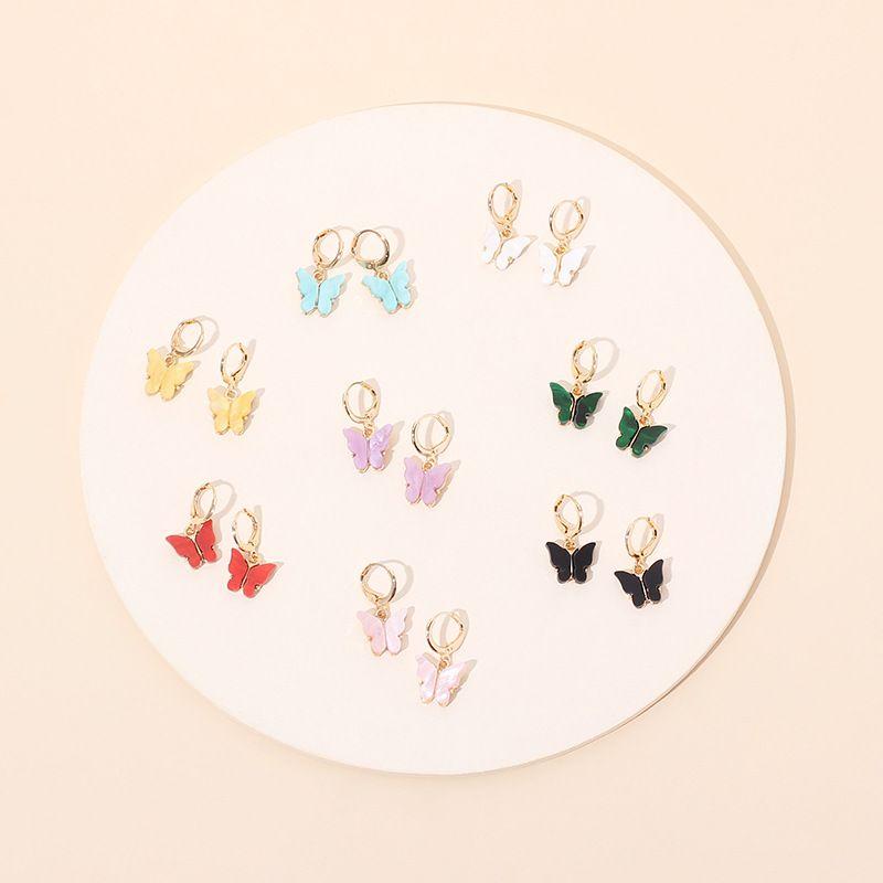 Forme nuevos pendientes aclicos de la marea de la mariposa del circn nuevos para las mujeres NHRN261129