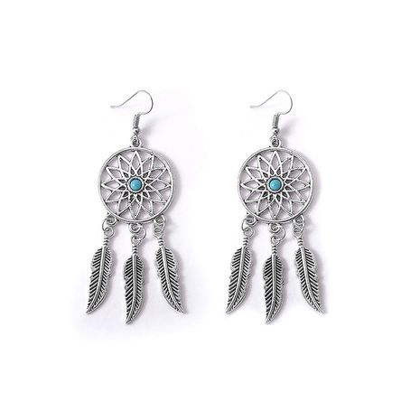 Fashion new dream catcher feather earrings for women wholesale NHMO261132's discount tags
