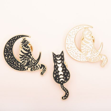 Hot selling fashion punk moon brooch  NHMO261134's discount tags