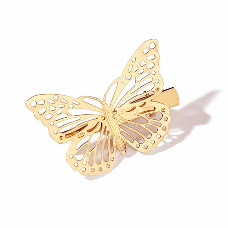 new ladies sweet versatile hollow butterfly three-dimensional side clip  NHMO261135's discount tags