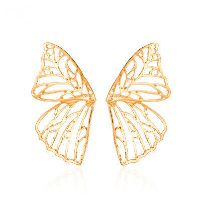 Hot selling fashion exaggerated metal hollow butterfly earrings NHMO261142's discount tags