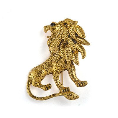 Nueva moda retro animal traje de hombre león pin broche de ropa NHMO261145's discount tags