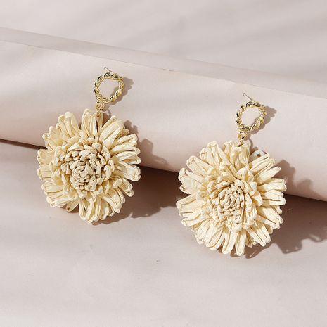 Pendientes de flores de personalidad creativa de moda vendedora caliente NHPS261177's discount tags