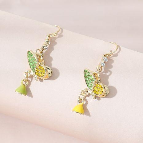 Korean s trend line wild personality painting oil rhinestone earrings NHPS261192's discount tags