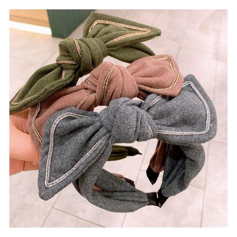 Diadema de lazo de lana retro nueva coreana retro NHHD261198's discount tags