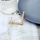 new trendy headdress top clip pearl  simple word clip girls broken hairpin  NHQD261206