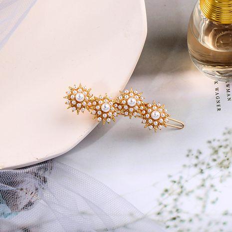 Clip coréen Bangs clip tête arrière clip de bec de canard perle épingle à cheveux cassée NHQD261228's discount tags