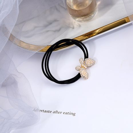 Bow knot pearl headdress wild tie Korea simple rubber band hair rope NHQD261237's discount tags