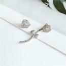 Koreanische neue trendige einfache asymmetrische Blumenlegierungsohrringe fr Frauen NHVA261240