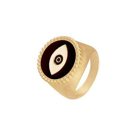heißer Verkauf Mode Legierung tropfendes Öl Teufelsauge dumm Gold Augenring NHOA261262's discount tags