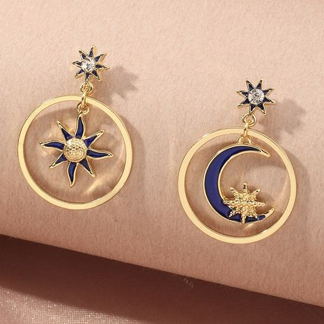 wholesale retro star and moon fashion earrings for women hot-saling NHNZ261269's discount tags