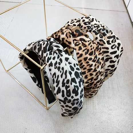 Hot selling fashion retro new simple leopard print knotted headband  NHUX261283's discount tags