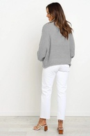 New 2020 autumn and winter street trendy pullover high neck loose sweater womens sweater NHWA261356