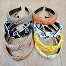 Hot selling fashion womens simple fabric smiling face knotted headband  NHUX261294