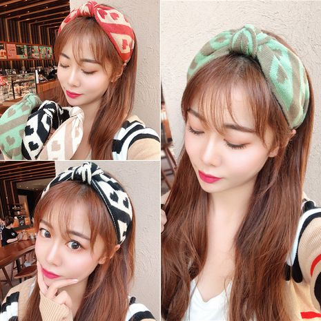 Korean  new knitted knotted simple wind woolen love wild fashion headband  NHUX261296's discount tags