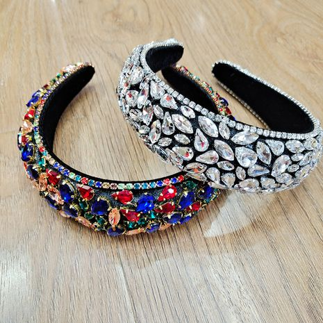 retro full diamond sponge headband NHUX261304's discount tags