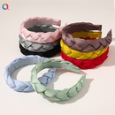 retro solid color fabric twist braid trend monochrome braid head buckle headband  NHDM261320