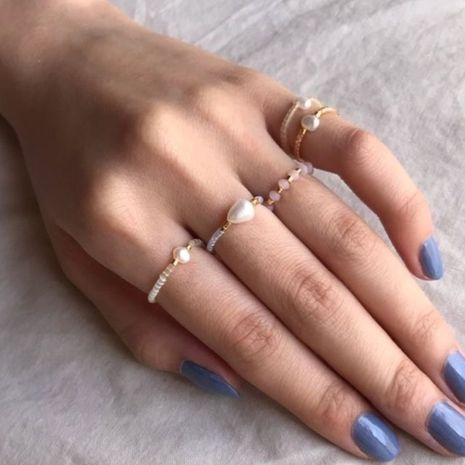 Niche  freshwater rice beads handmade pearl ring  NHGW261323's discount tags