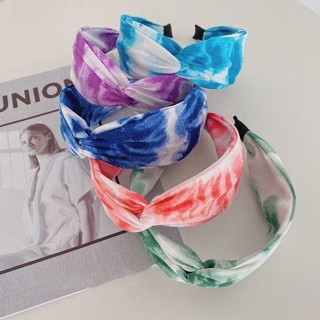 Venda media vendedora caliente de la tela del teñido anudado de la tinta con nudos cruzados de la moda NHSM260830's discount tags