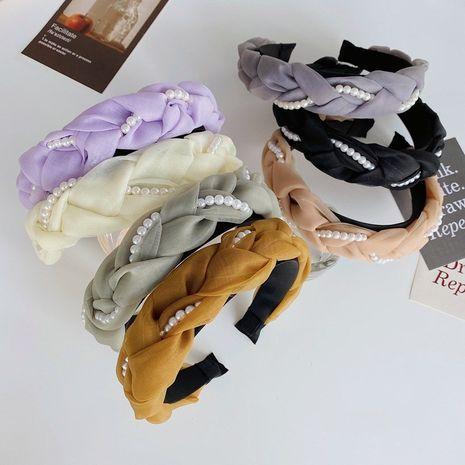 Venta al por mayor vendedora caliente de la venda de las mujeres trenzadas perla de la moda NHSM260836's discount tags